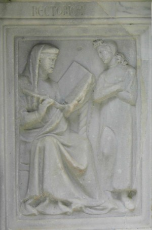 Perugia, Fontana Maggiore, Retorica